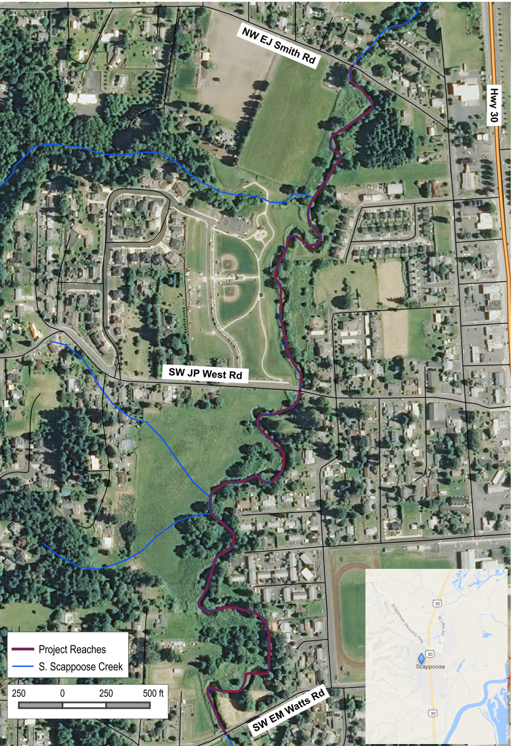 Project site in City of Scappoose